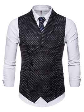 Ericdress Polka Dots Printed Vest & Dress Shirts Mens Outfits