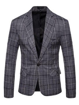 ericdres plaid un botón recto mens casual blazer