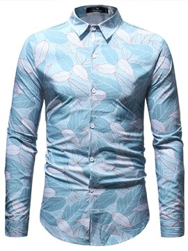 Ericdress Floral Printed Fashion Button Up Mens Casual Shirts