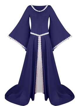Ericdress Easter Renaissance Medieval Gothic Long Sleeved Dress