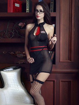 Ericdress Tight Wrap See-Through Office Ladies Costume