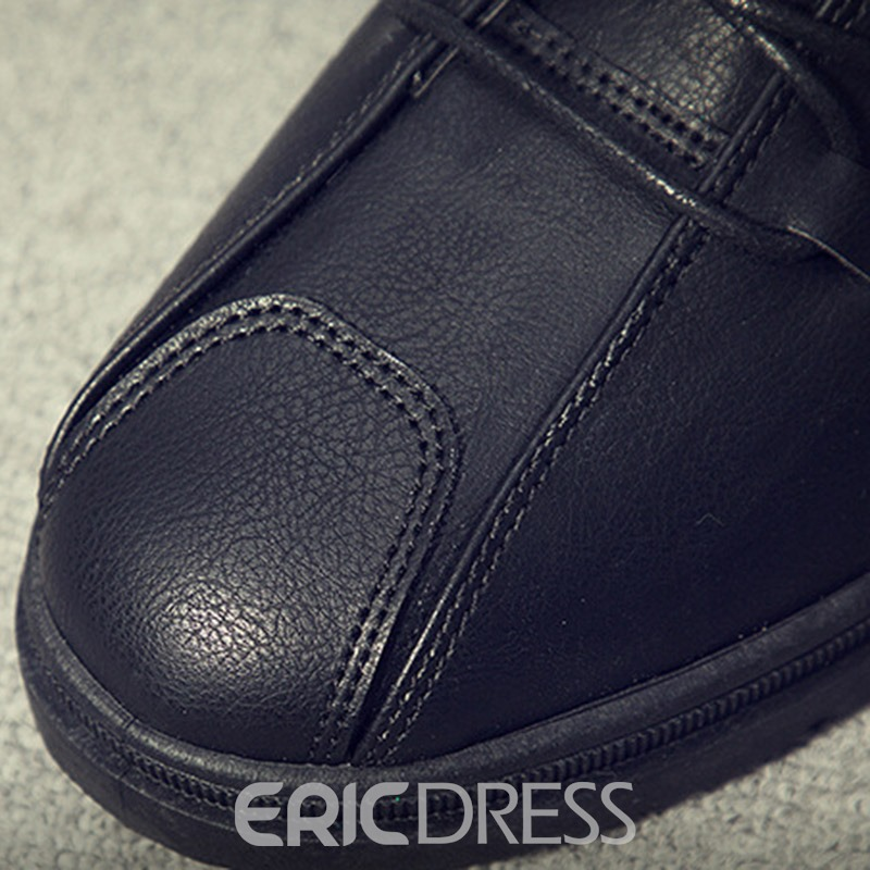Ericdress PU Lace-Up Thread Round Toe Men's Athletic Shoes