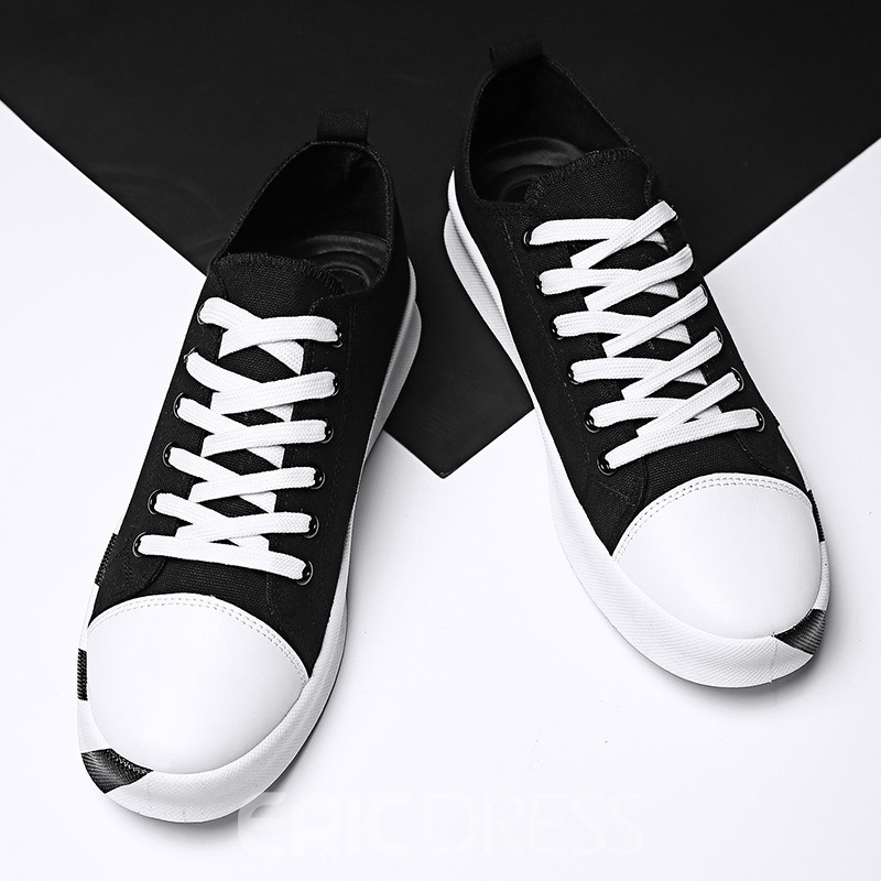 Ericdress Fashion Canvas Lace-Up Men's Athletic Shoes