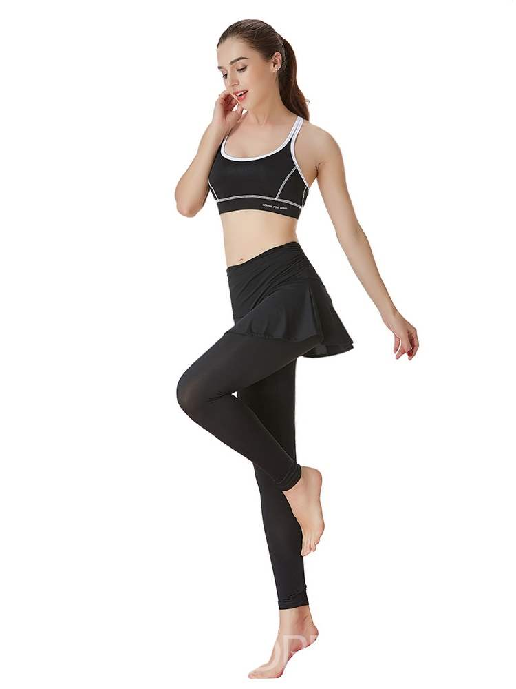 Ericdress Color Block Polyester Pullover Yoga Clothing Sets