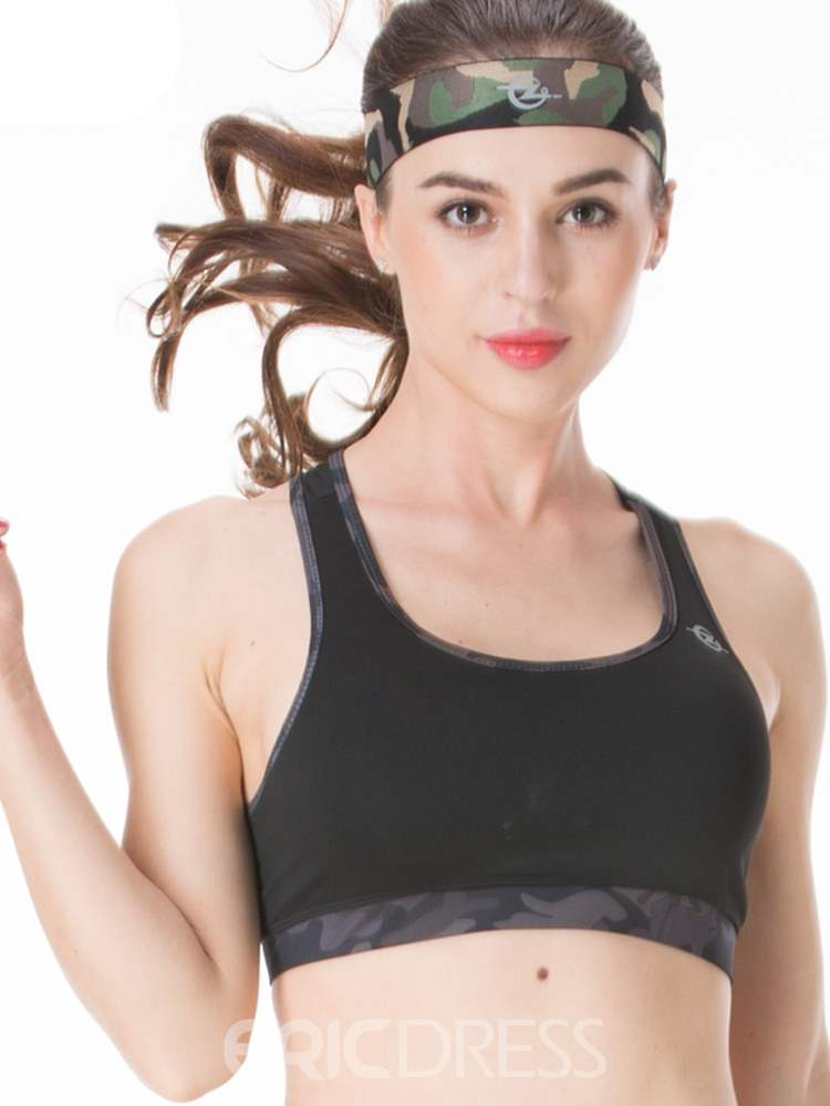 Ericdress Non-Adjusted Straps Polyester Free Wire Sports Bras