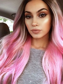 Long Ombre Synthetic Hair Women Capless Wig