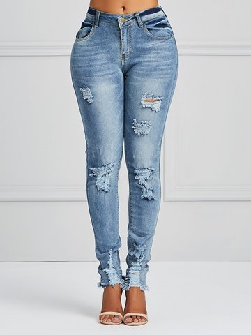 Ericdress Hole Skinny Women's Pencil Jeans