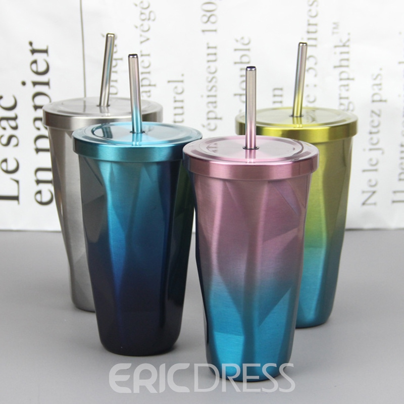Ericdress Colours Stainless Steel 500ml Water Cup