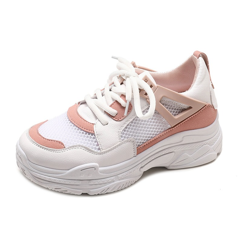 Ericdress Mesh Patchwork Plain Lace-Up Women's Sneakers