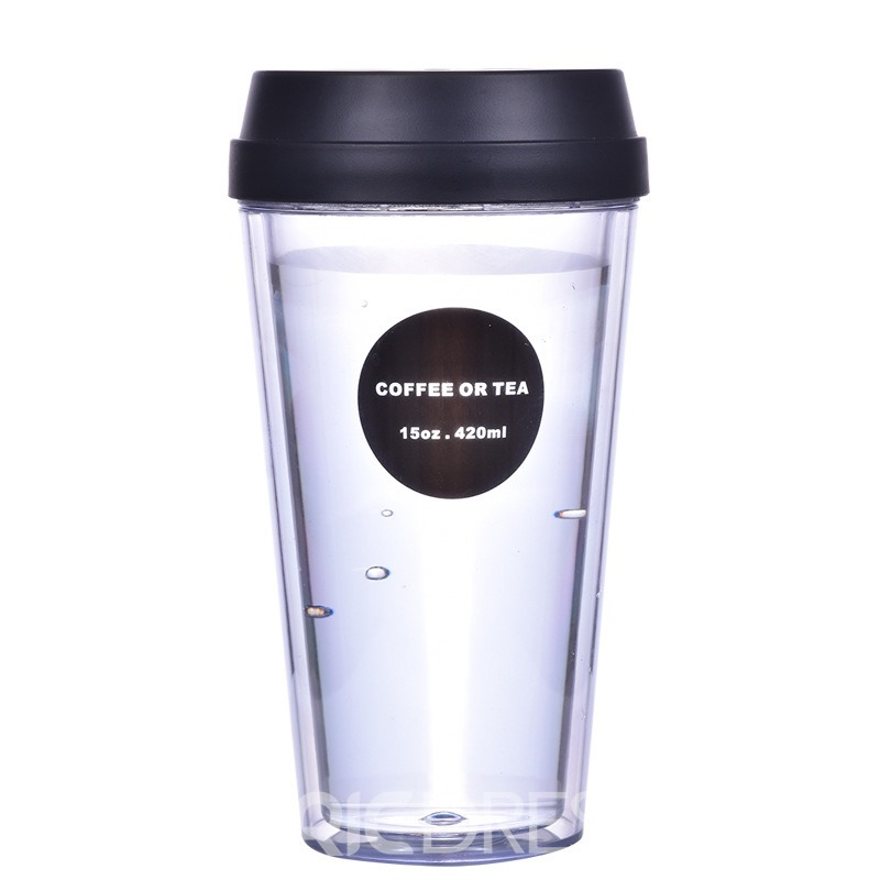 Ericdress Double-Deck AS/PP Leakproof Coffee Water Cup Creative Gifts