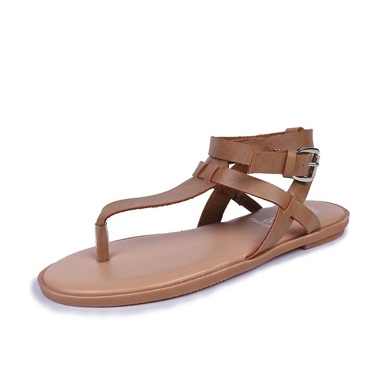 Ericdress Buckle Strappy Thong Flat Sandals