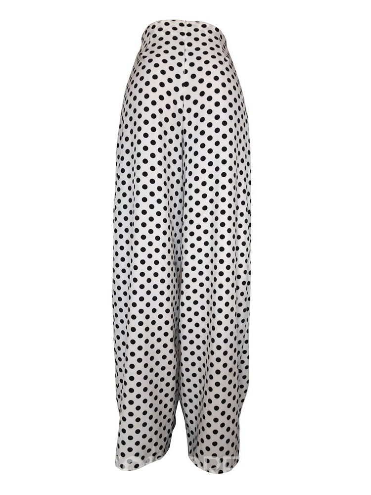 Ericdress Polka Dots Wide Legs Print Women's Pants
