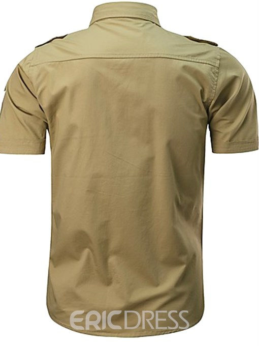 Ericdress Plain Loose Mens Summer Shirt