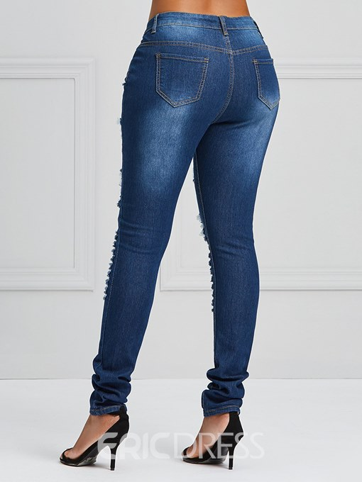 Ericdress Ripped Skinny Stretchy Women's Jeans
