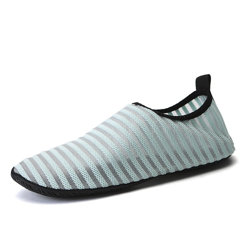 Ericdress Mesh Beach Stripe Slip-On Non-Slip Water Shoes