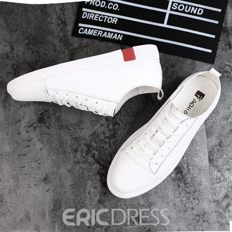 Ericdress PU Casual Lace-Up Round Toe Men's Trainers