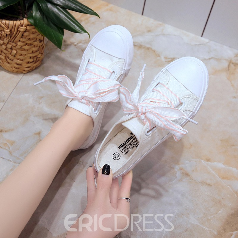 Ericdress Canvas Platform Lace-Up Casual Women's Sneakers