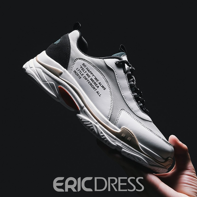 Ericdress Mesh Color Block Casual Lace-Up Men's Trainers