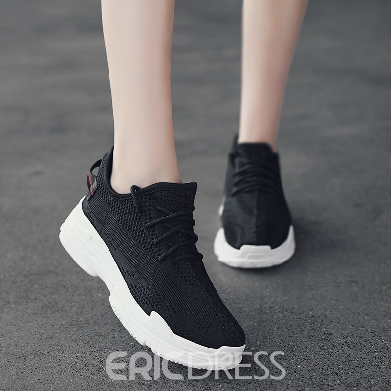 EricdressMesh Casual Lace-Up Round Toe Men's Trainers