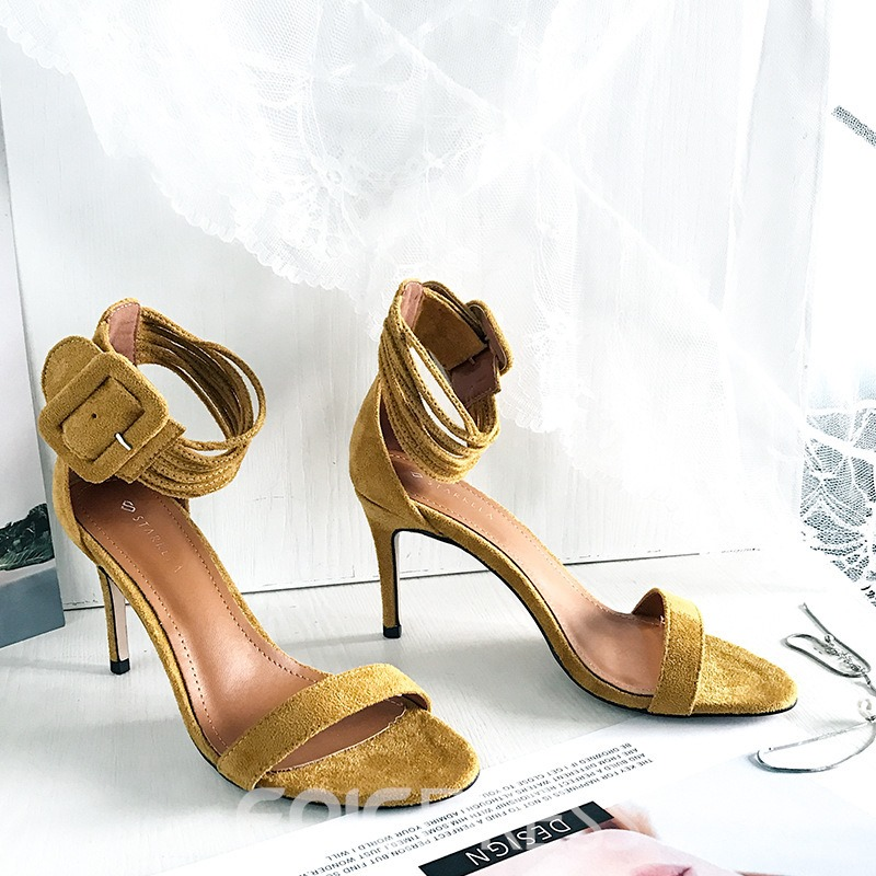 Ericdress Line-Style Buckle Stiletto Heel Women's' Sandals