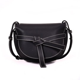 Ericdress Color Block Bowtie Saddle Bag