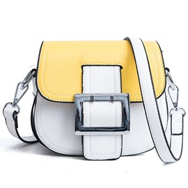 Ericdress Color Block Belt Decorated Saddle Bag