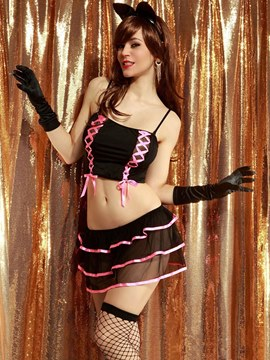 Ericdress Lace-Up Short Sexy Catwoman Costume