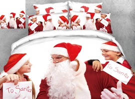 3D Customize Personal Picture Reactive Printing Cotton 4-Piece Bedding Sets/Duvet Covers