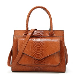 Ericdress Alligator Embossing Zipper Tote Bag