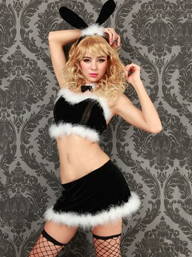 Ericdress Bowknot Back Closure Sexy Bunny Costume