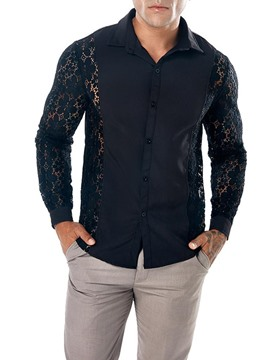 Ericdress Plain Slim Fit Mens Casual Sexy Shirts