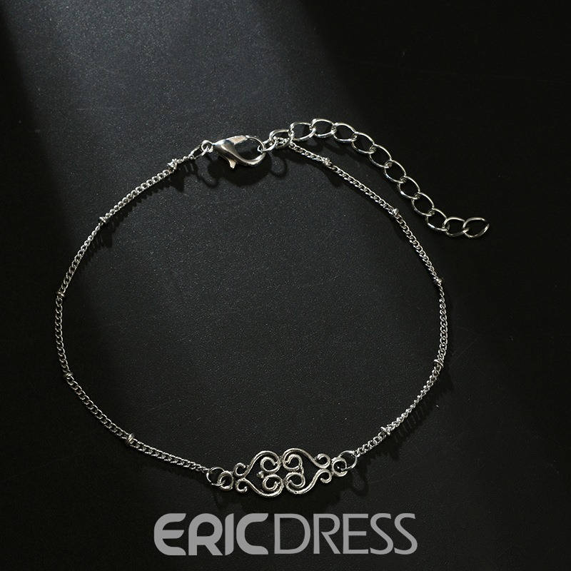 Ericdress Fishtail Bohemian Style Double Chain Anklet For Women