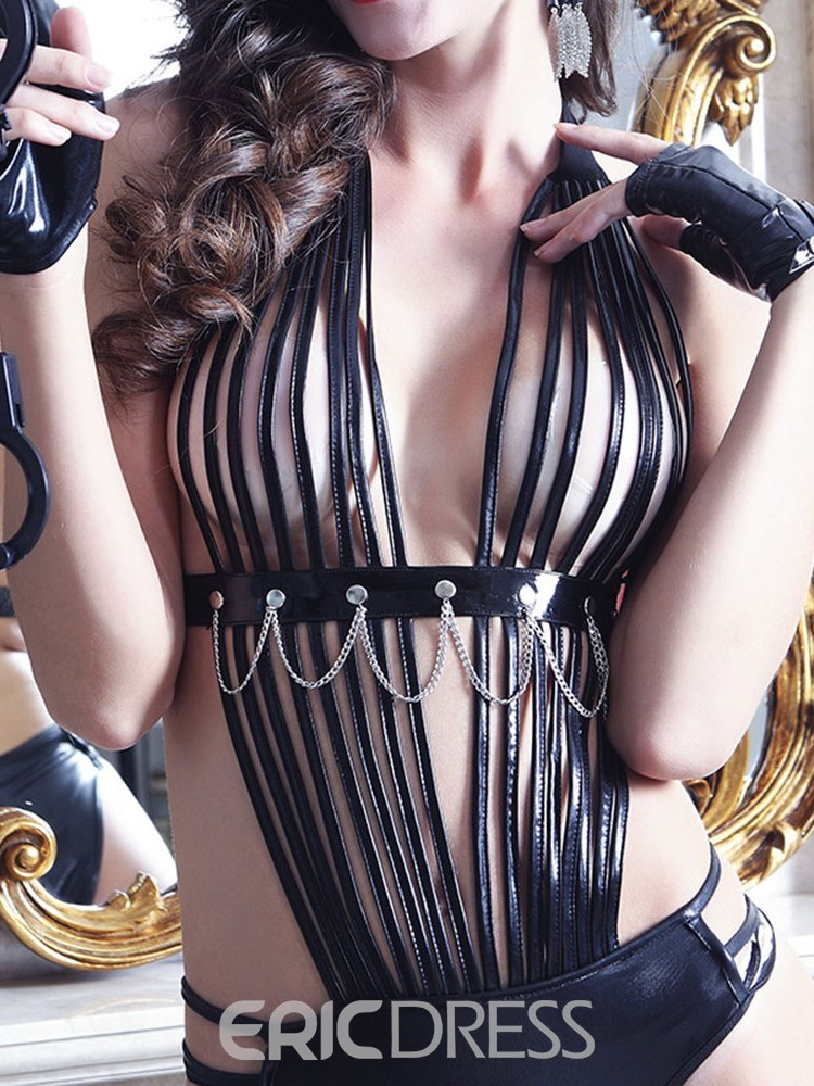 Ericdress Halter Hollow Chain Onesies Military Costume