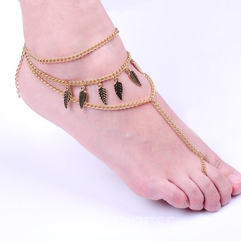 Ericdress Fashion Leaf Anklet