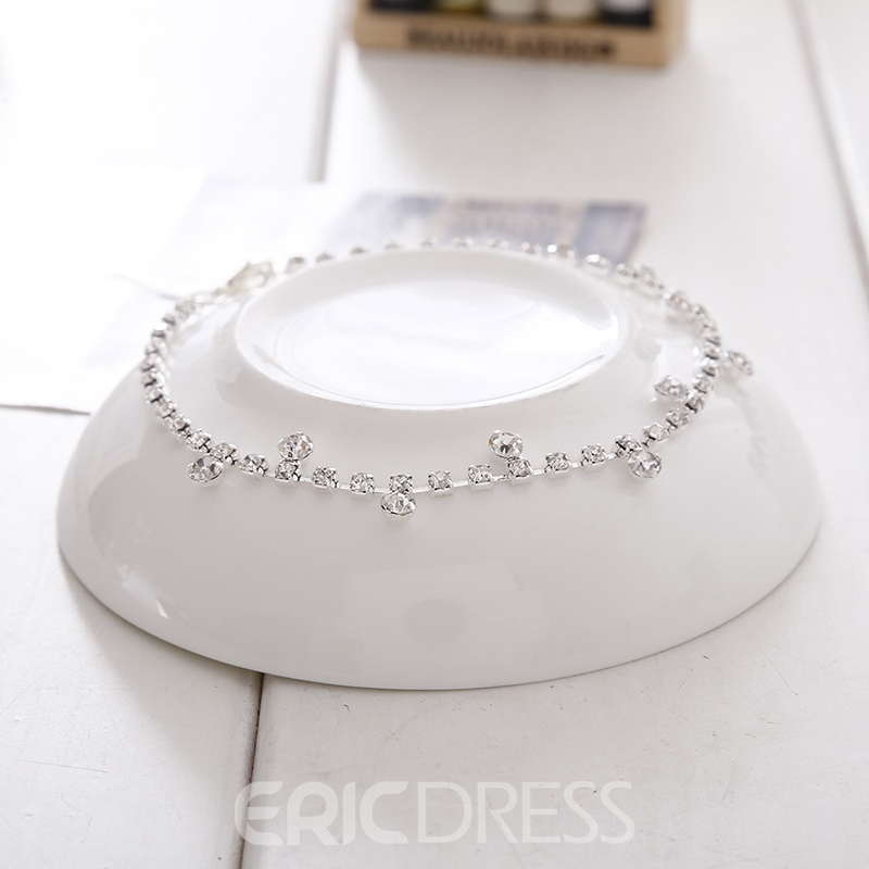 Ericdress Rhinestone Shining Attractive Anklets For Women