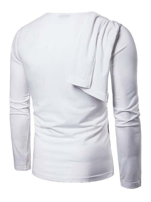Ericdress Patchwork Mens Casual T Shirts With Streamer