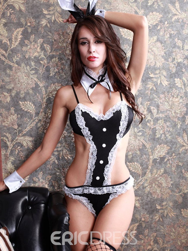 Ericdress Lace Button Three-Point Bunny Costume