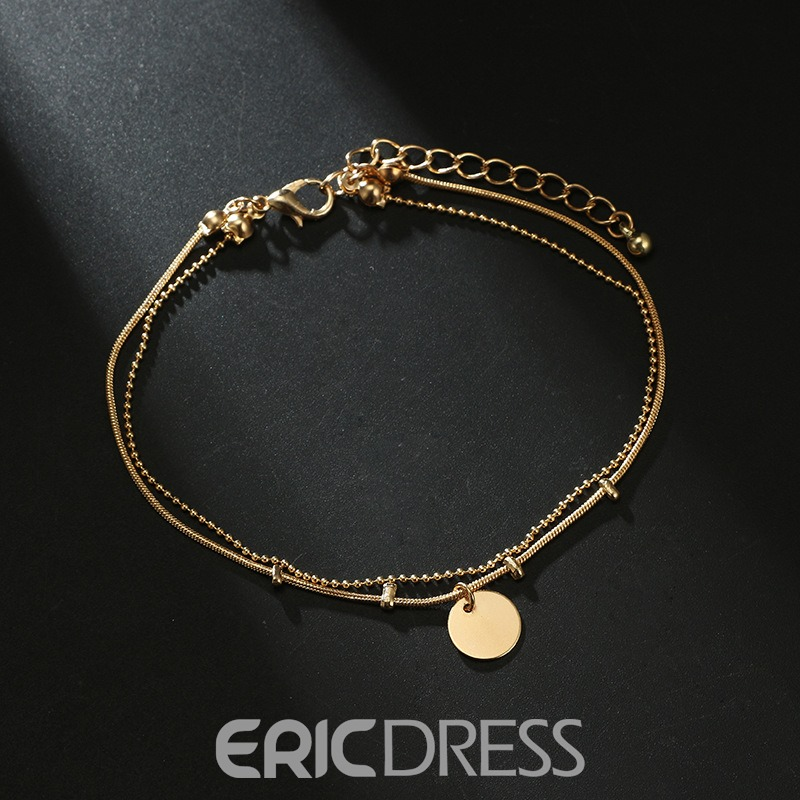 Ericdress Paillette Multilayer Anklet