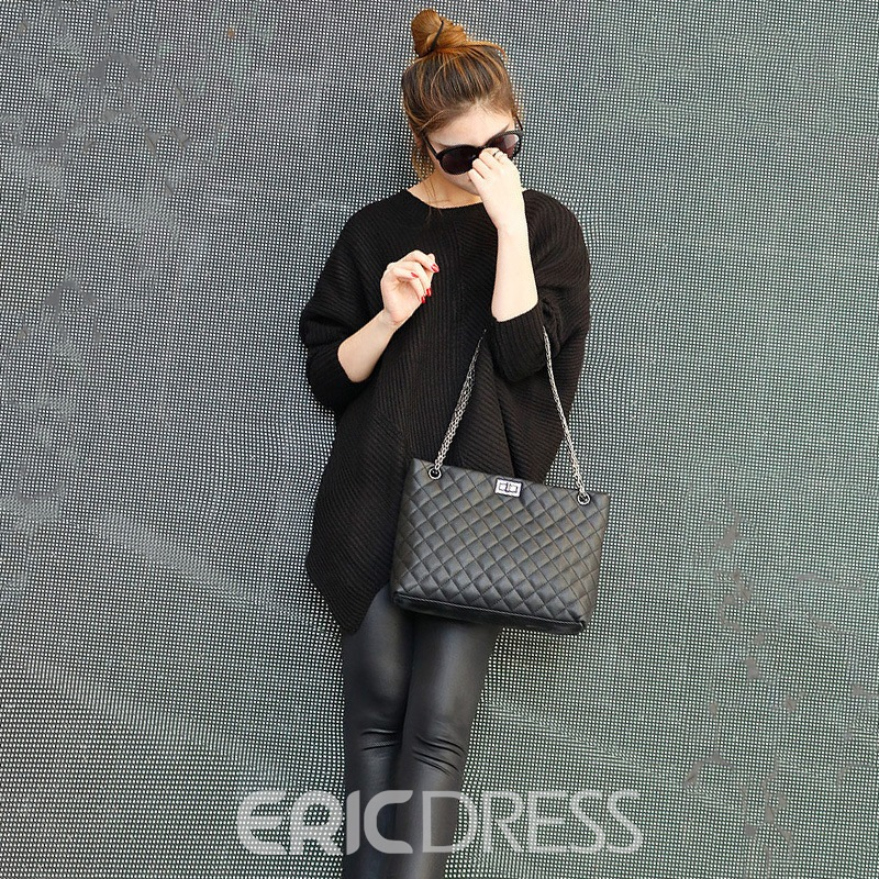 Ericdress Plain Rectangle Soft Crossbody Bag