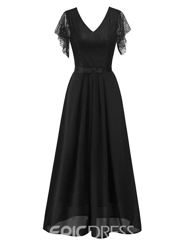 Ericdress A-Line V-Neck Lace Women's Dress
