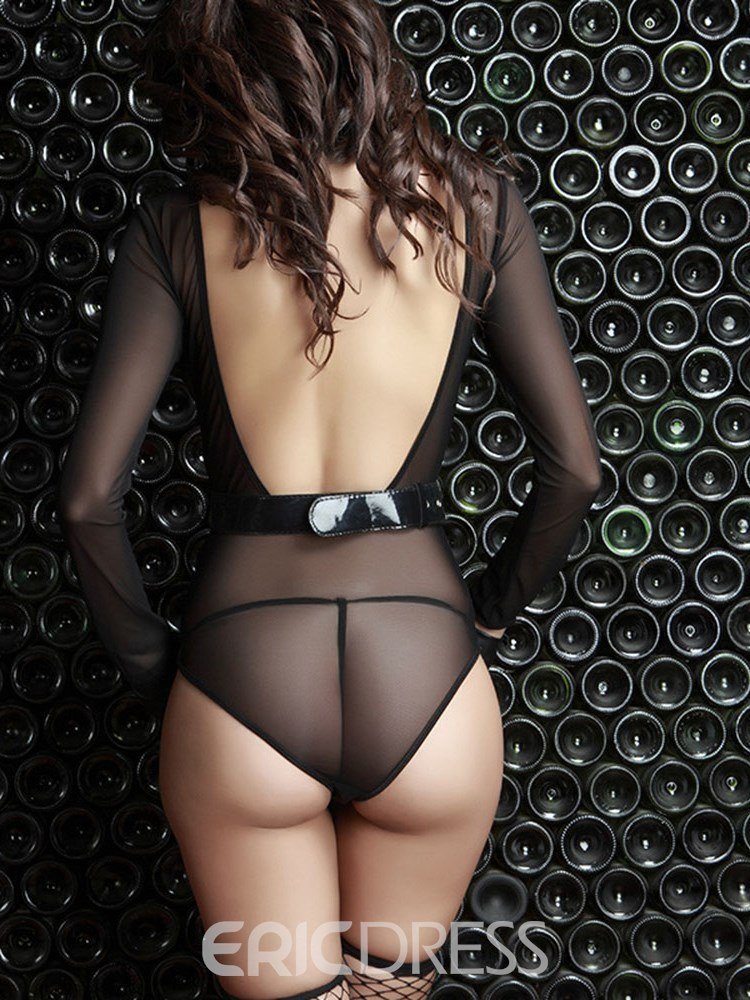 Ericdress Long Sleeve See-Through Sexy Teddy Military Costume