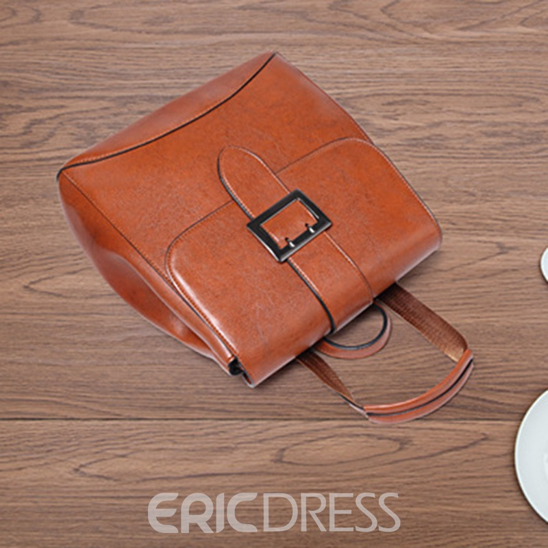 Ericdress Casual Belt Decorated Medium Backpack