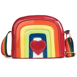 Ericdress Color Block Heart Shaped Crossbody Bag