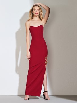 Ericdress Sheath Scoop Neck Side Slit Evening Dress