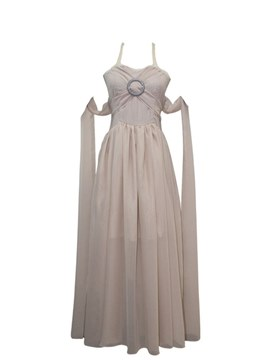 Ericdress Chiffon Grey Long Train Dress Halloween Cosplay Costume