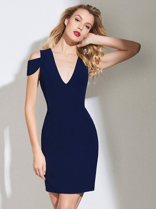 Ericdress Sheath V Neck Bodycon Homecoming Dress