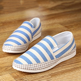 Ericdress Stripe Slip-On Low-Cut Casual Men's Loafers