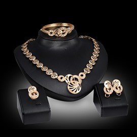 Ericdress HighPoint Golden Diamante Jewelry Set For Women