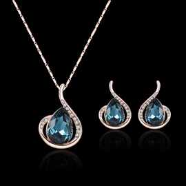 ericdress Edelsteine ​​Waterdrop Diamante Schmuckset