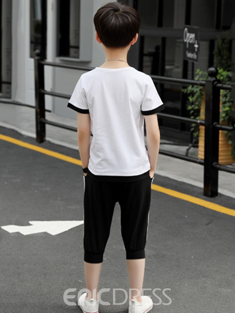 Ericdress Letter Printed T Shirts & Shirts Boy's Casual Outfits
